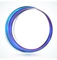 Blue shining abstract circle frame vector image vector image