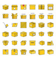 box and parcel icon for business pixel perfect vector image vector image