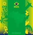 Brazil background vector image