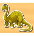 Brown dinosaur with happy face vector image vector image