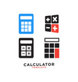 calculator graphic design template vector image vector image