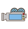 Cartoon camera film record movie vector image