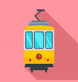 city tramcar icon flat style vector image vector image