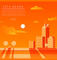 cityscape flat vector image vector image