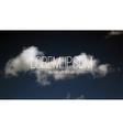 Cloudy sky Halftone vector image vector image
