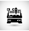 Cnc milling machine icon vector image vector image