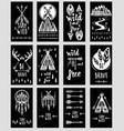 collection cards templates on theme of vector image