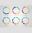 colorful 3d circle arrows set vector image