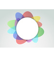Colorful abstract notifier vector image