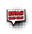 Comic text bwah hah sound effects pop art vector image vector image