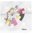 Creative circle abstract logo design vector image vector image