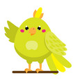 cute parrot cartoon african and tropical animal vector image vector image