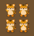 cute tiger icons vector image vector image