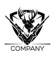 deer hunting logo vector image vector image