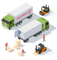 delivery service isometric elements vector image vector image