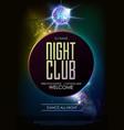 disco ball background disco party poster vector image vector image