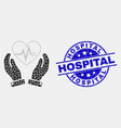 dot heart surgery care hands icon and vector image vector image