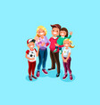 family book character vector image vector image