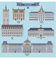 Famous Places in Belgium vector image