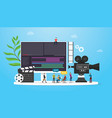 film video production concept with team people vector image