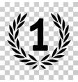 first laurel wreath icon vector image vector image