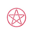 Five point star icon with hand drawn lines texture vector image vector image