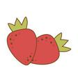 fresh strawberry fruit icon vector image