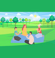 friends playing game and spending time together vector image vector image