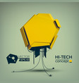 geometric abstract hi-tech concept vector image vector image