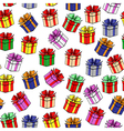 gift color patterns vector image vector image