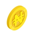 Gold coin with nairas sign icon vector image vector image
