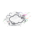 grunge cloud banner vector image vector image