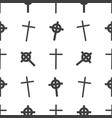 halloween seamless pattern tomb cross vector image vector image