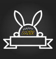 happy easter template with blank space ribbon and vector image