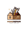 home repair logo vector image
