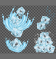 ice cube and water splashing vector image vector image