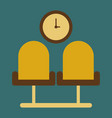 icon in flat design for airport waiting hall vector image