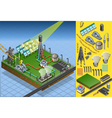 Isometric Termo Solar Plant Diagram vector image vector image