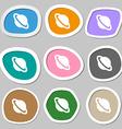 Jupiter planet icon symbols Multicolored paper vector image