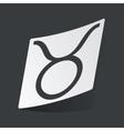 Monochrome Taurus sticker vector image vector image