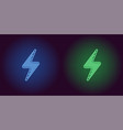 neon icon of blue and green electric energy vector image