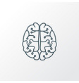 neurobiology icon line symbol premium quality vector image