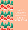 New Year and Christmas Card Calligraphic vector image