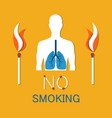 no smoking poster human damaged lung banner vector image vector image