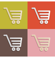 Paper Shopping Carts Baskets Set on Retro vector image vector image
