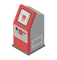 payment terminal icon isometric style vector image