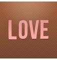 Pink paper Love Word on cardboard Background vector image vector image
