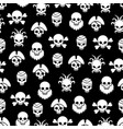 pirate seamless pattern with white skulls vector image vector image
