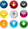 Round color download icons vector image