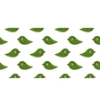 seamless green birds vector image